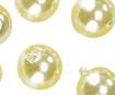 Wax beads 8mm 32pcs 20 yellow