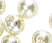 Wax beads 8mm 32pcs 96 white