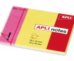 Note pad 10973 25x75mm+75x75mm pink+yellow