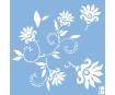 Šabloon Marabu 33x33cm Dancing Flowers