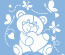 Šabloon Marabu 33x33cm Baby bear