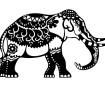 Šabloon Marabu Silhouette A4 Indian Elephant