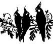 Šabloon Marabu Silhouette A4 Three Birds