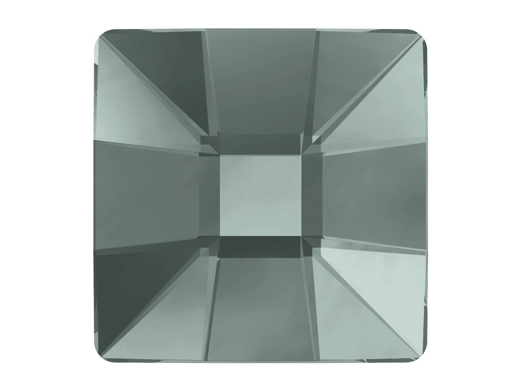 Crystal fancy stone Swarovski Flat Back Hotfix mosaic square 2483 10mm 215 black diamond