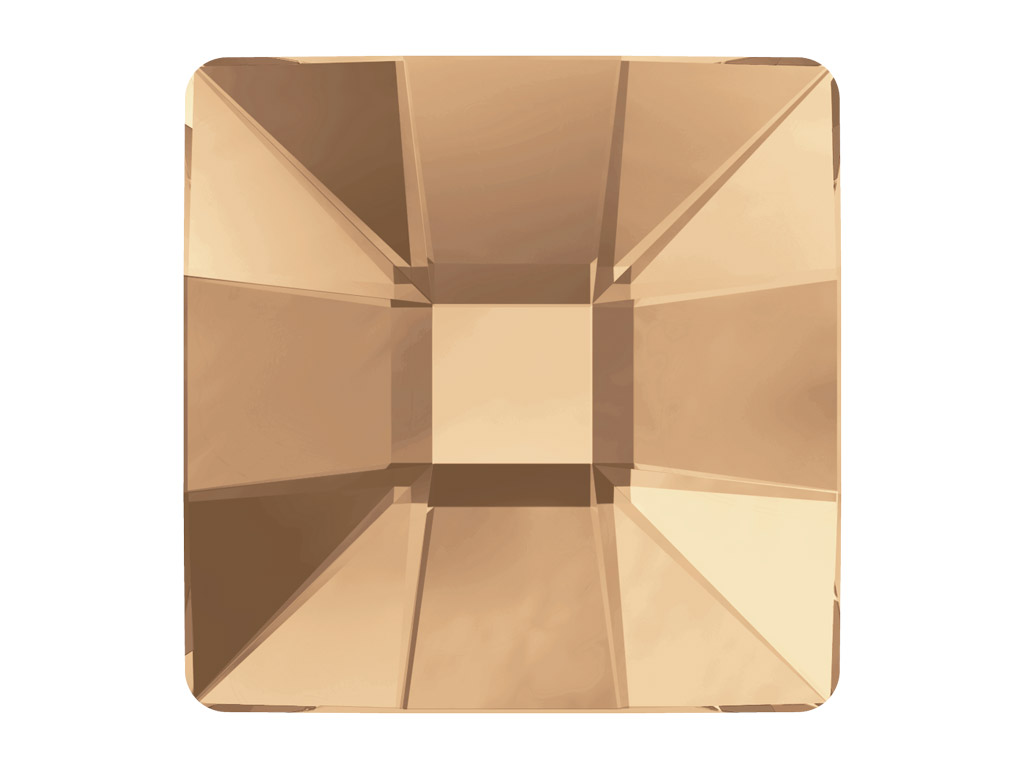 Crystal fancy stone Swarovski Flat Back Hotfix mosaic square 2483 10mm 001GSHA crystal golden shadow