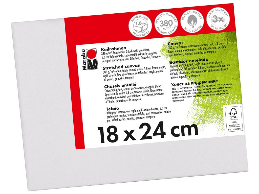 Lõuend raamil Marabu 18x24cm puuvillane