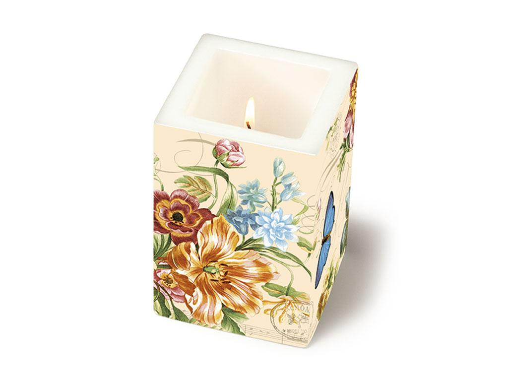 Candle 8x8x12cm Vintage Summer