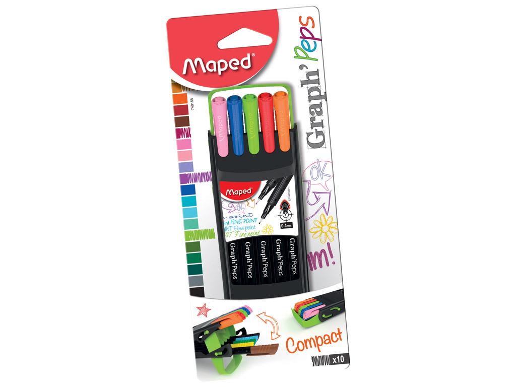Fine felt tip pen GraphPeps 0.4 Compact 10pcs blister