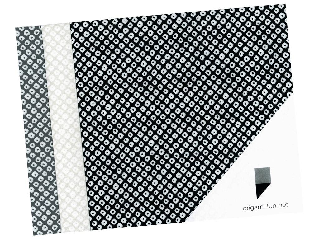 Washi paber Origami Fun Net 15x15cm 3x3tk shibori