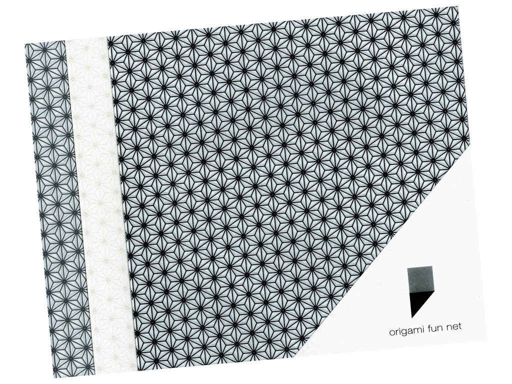 Washi paber Origami Fun Net 15x15cm 3x3tk asanoha-hemp leafs