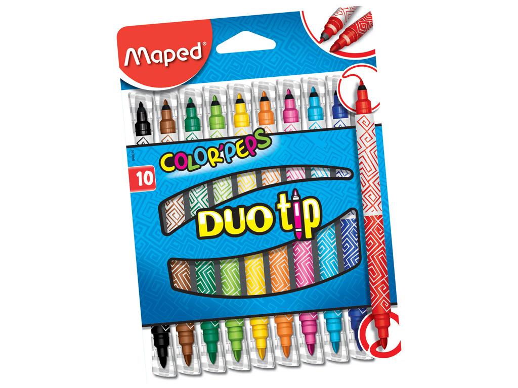 Felt pen ColorPeps Duo Tip 10pcs