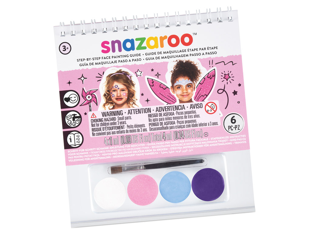 Face Painting Booklet A6 4x1ml+brush Girls