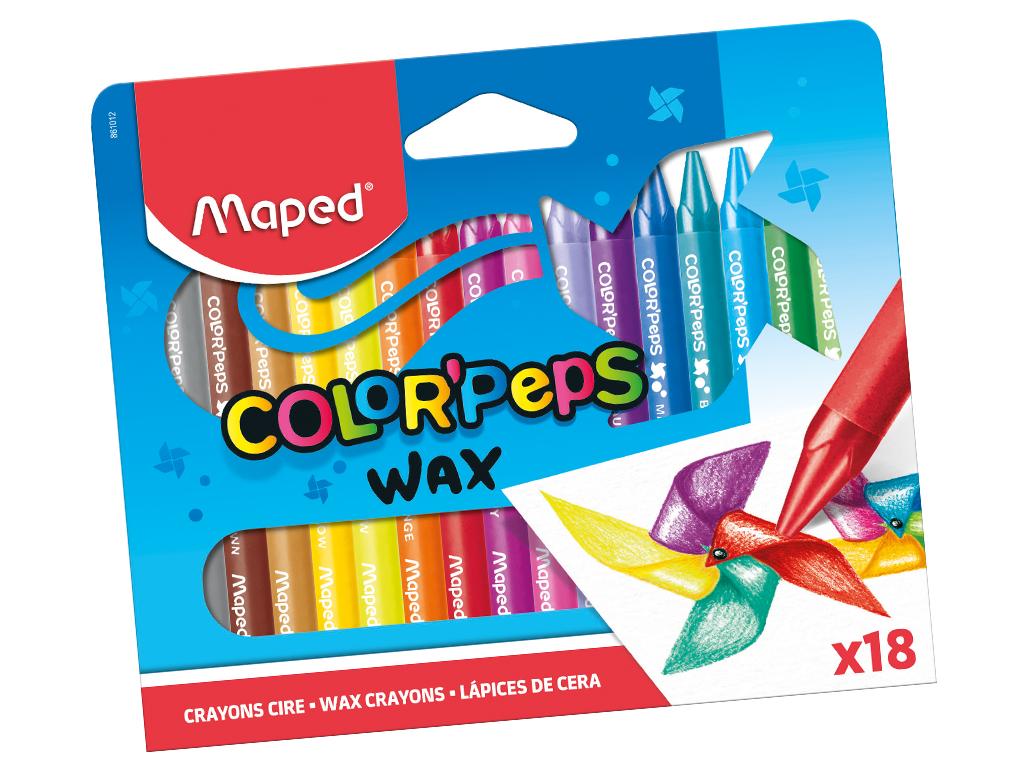 Vaska krītiņi ColorPeps 18gab.