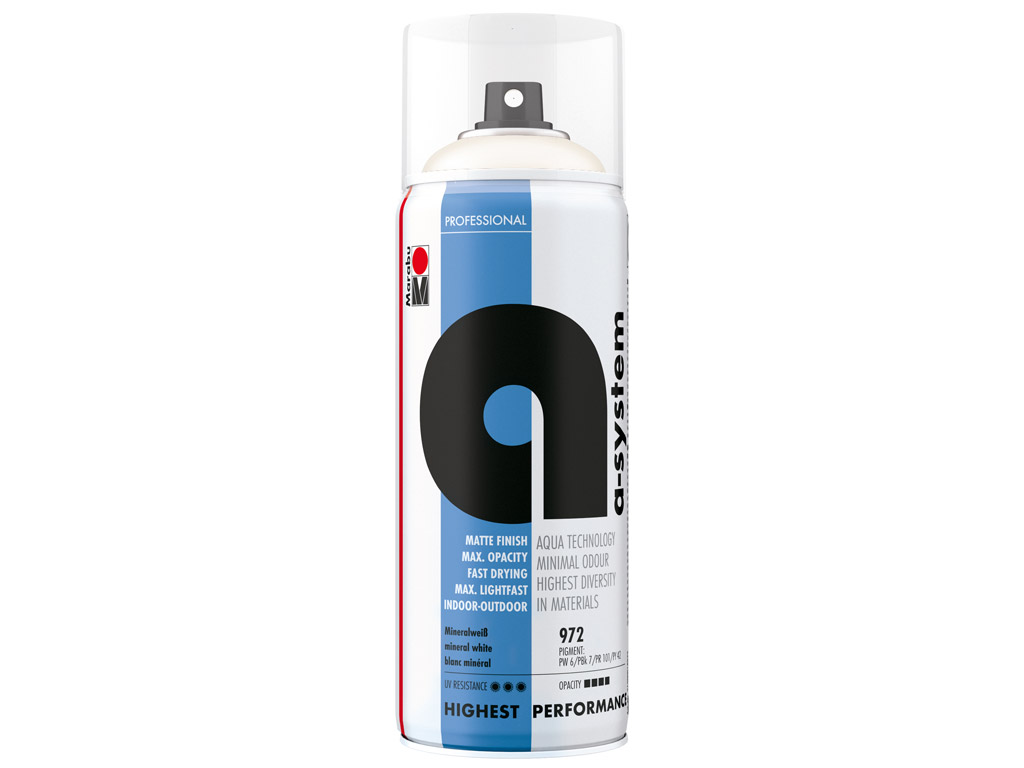 Colorspray a-system 400ml 972 mineral white