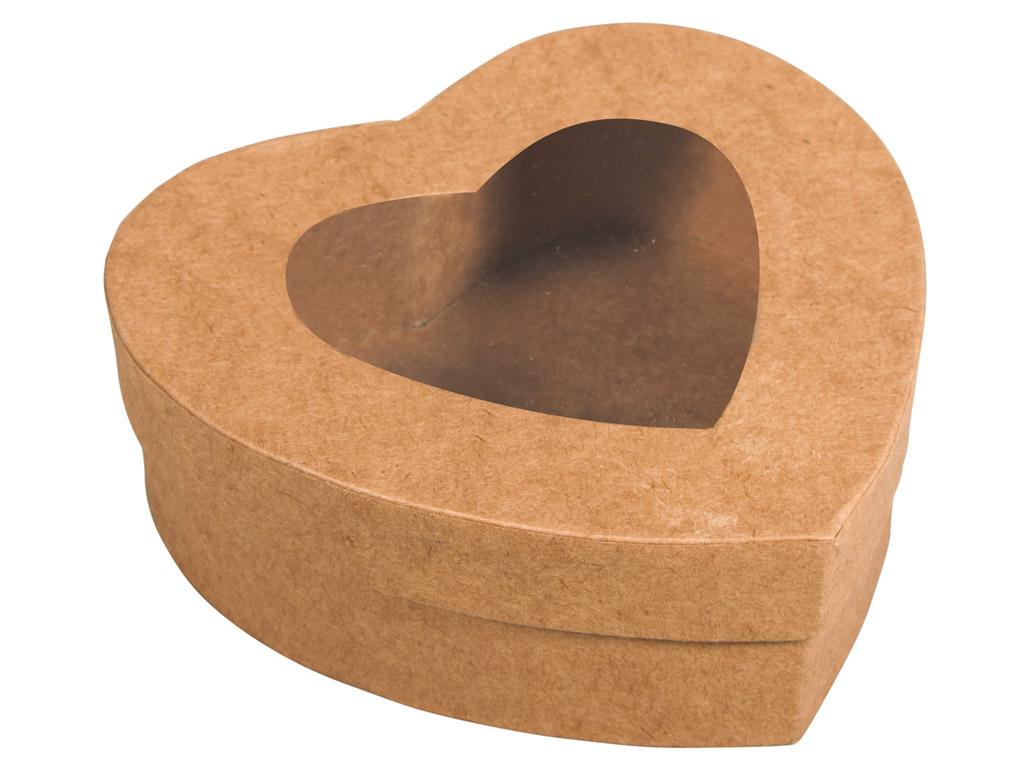 Karp kartongist Rayher süda 12.2x11.2x4.3cm vaateaknaga