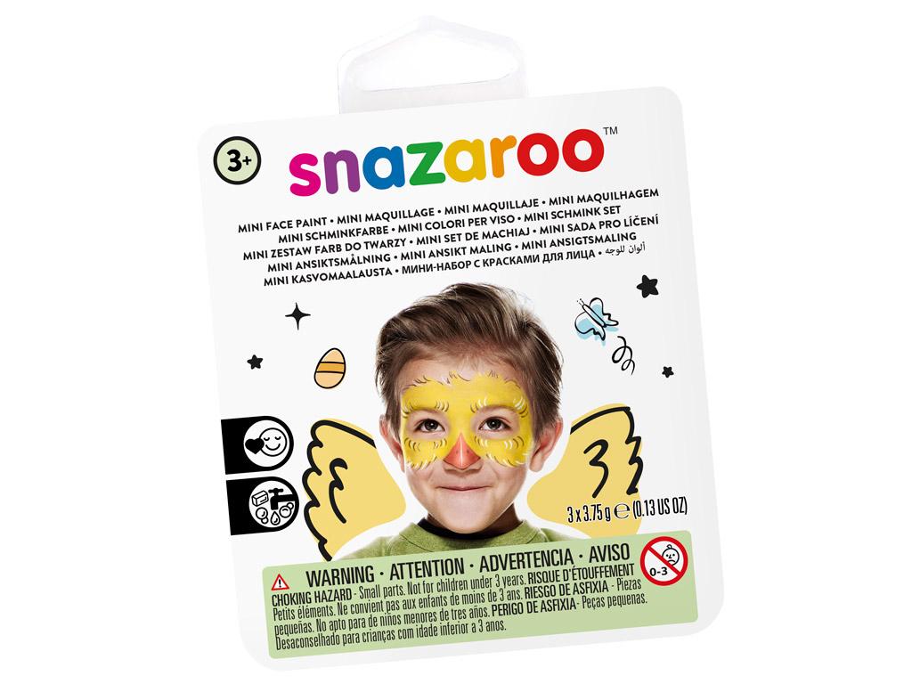 Näovärvide komplekt Snazaroo Mini 3 värvi+pintsel+svamm Chick