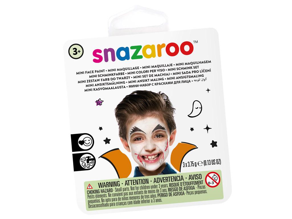 Näovärvide komplekt Snazaroo Mini 3 värvi+pintsel+svamm Vampire