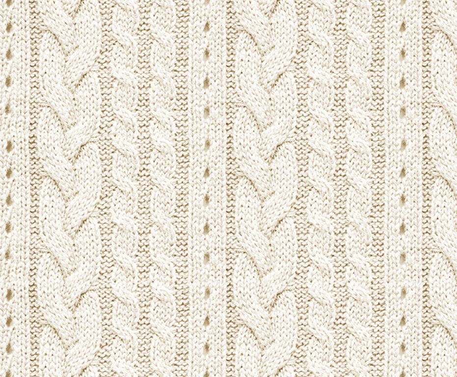 Kartong pildiga Ursus 49.5x68cm/300g Knitting Pattern Cream