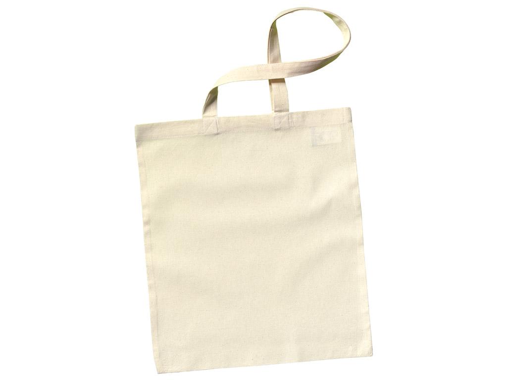 Cotton shopping bag 38x42cm long handles