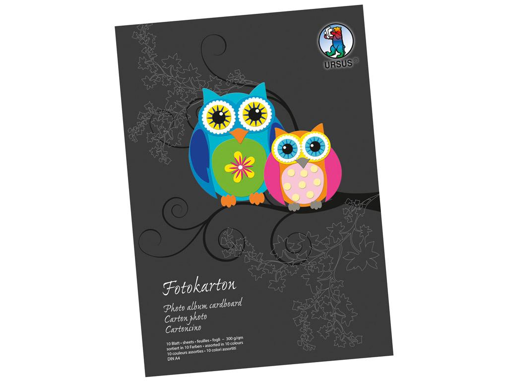 Coloured carton pad Ursus Special Edition A4/300g 10 sheets