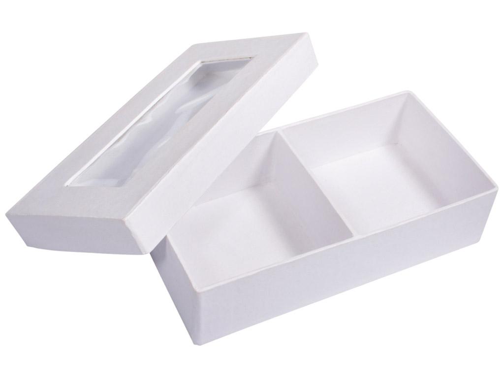 Karp kartongist Rayher kandiline 16.5x8.5x4.5cm vaateaknaga 2 lahtriga valge