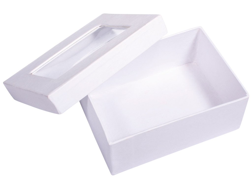 Karp kartongist Rayher kandiline 10.5x7.7x4.4cm vaateaknaga valge