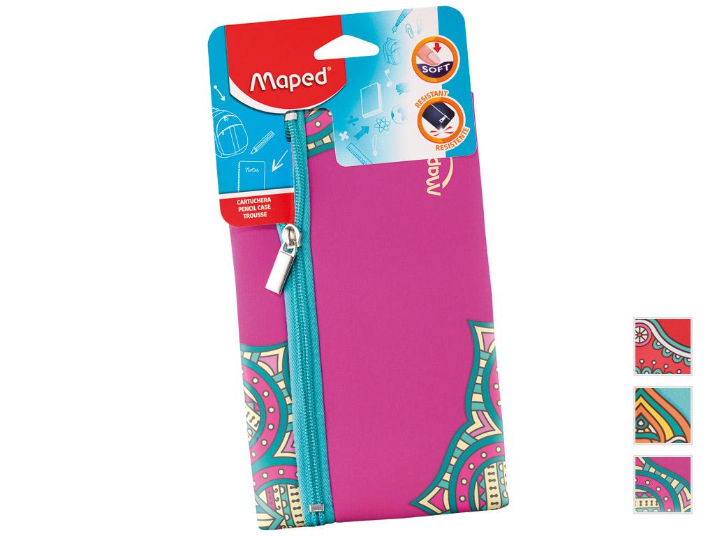 Pencil case Maped flat Girl Mandala assorted