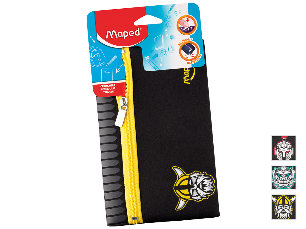 Pencil case Maped flat Boy Ethnic assorted