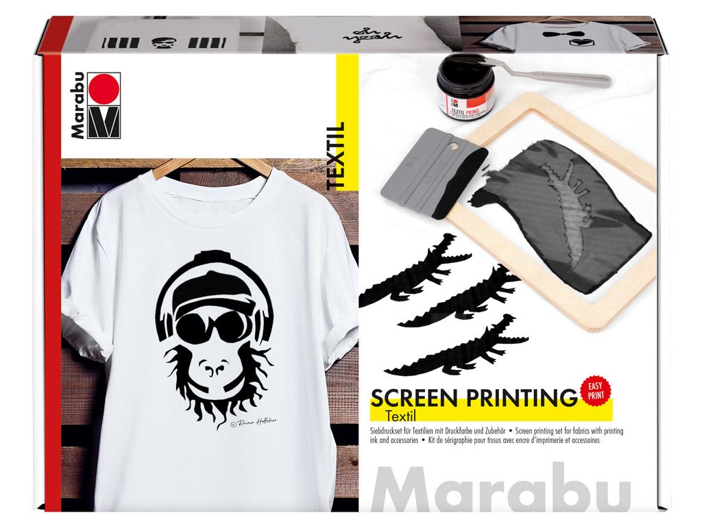 Screen printing set for fabric Marabu