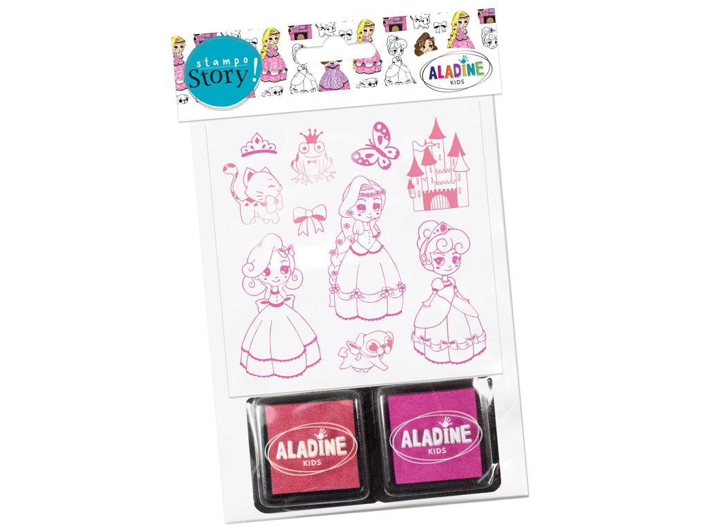 Stamp Aladine Stampo Story 10pcs Princesses + 2ink pads