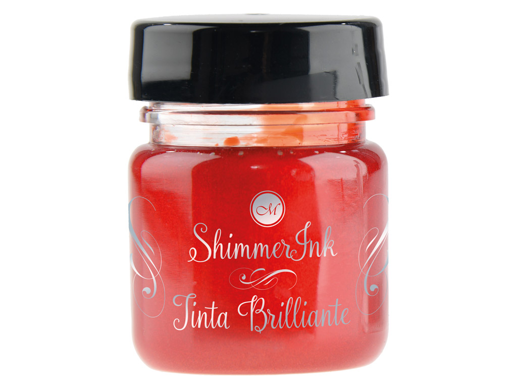 Kalligraafia tint Manuscript ShimmerInk 25ml strawberry crush