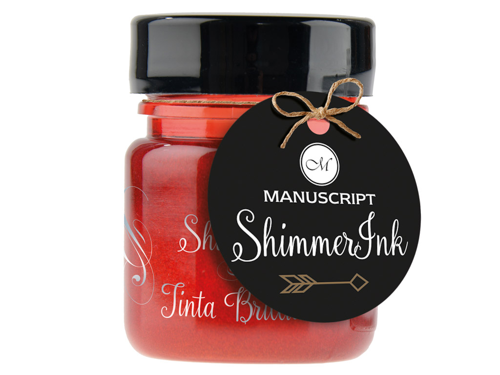 Kalligraafia tint Manuscript ShimmerInk 25ml rose quartz