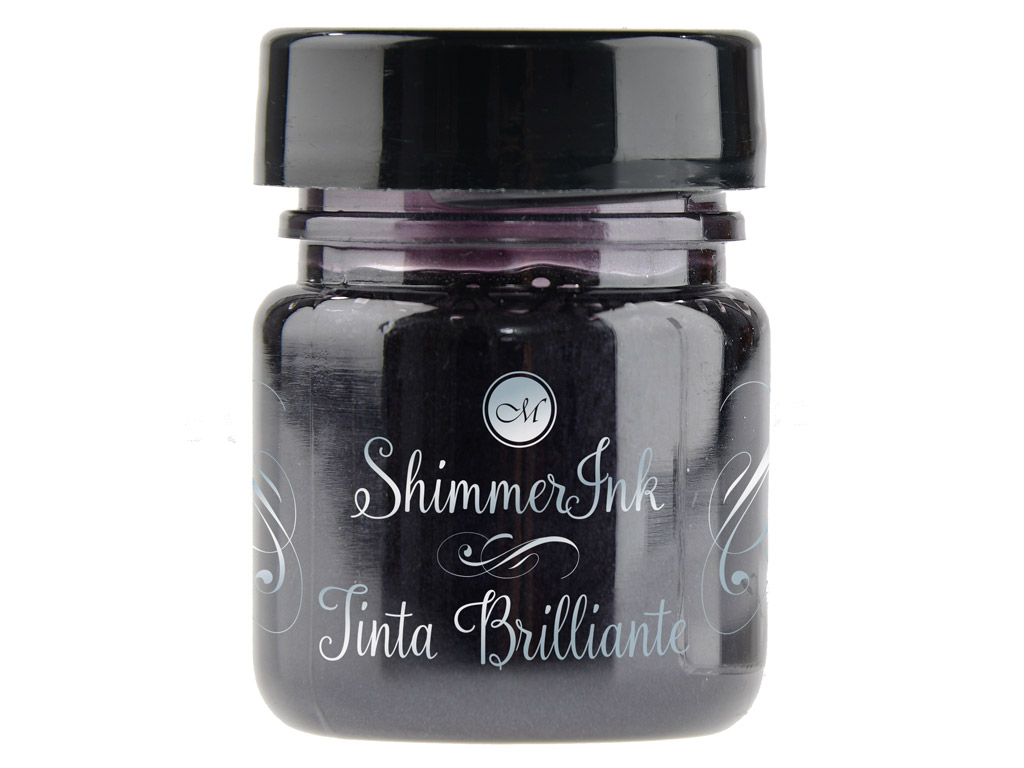 Kalligraafia tint Manuscript ShimmerInk 25ml silver lights