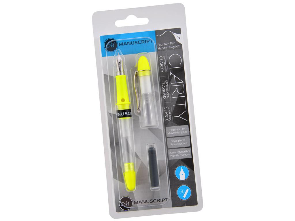 Fountain pen Manuscript Clarity yellow