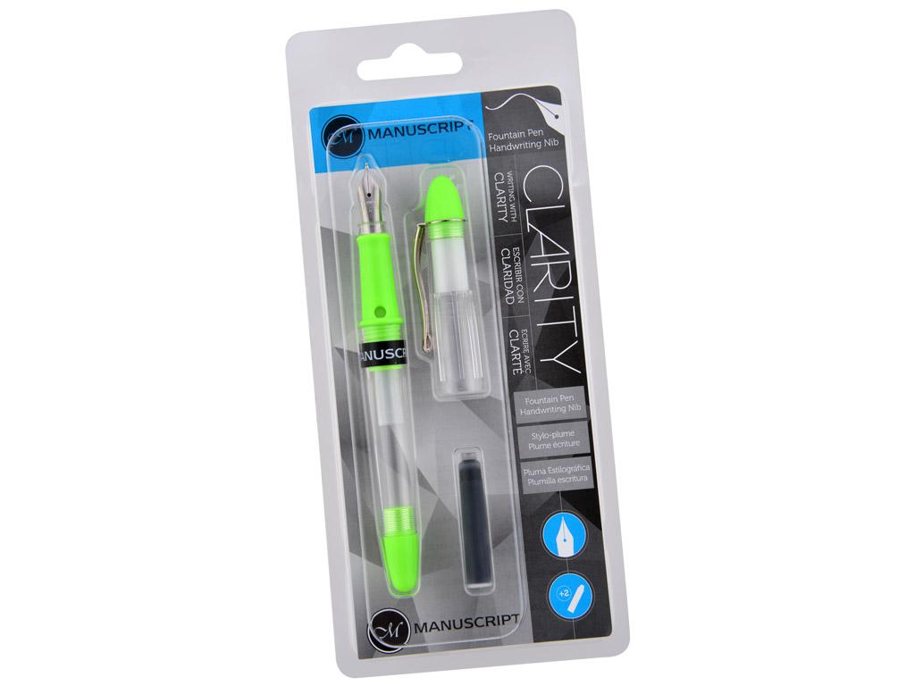 Fountain pen Manuscript Clarity green