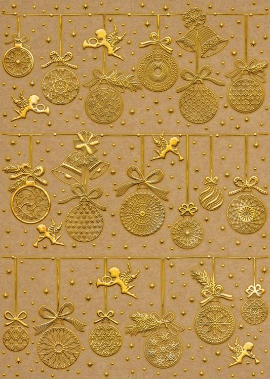 Disainkartong Ursus Kraft A4/250g Christmas 01F kuld