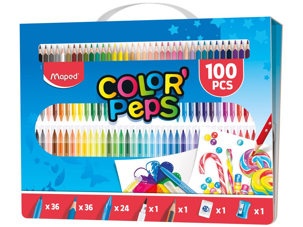 Joonistuskomplekt Maped ColorPeps 100tk