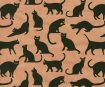 Nepaali paber A4 Printed Cats Black on Light Coral