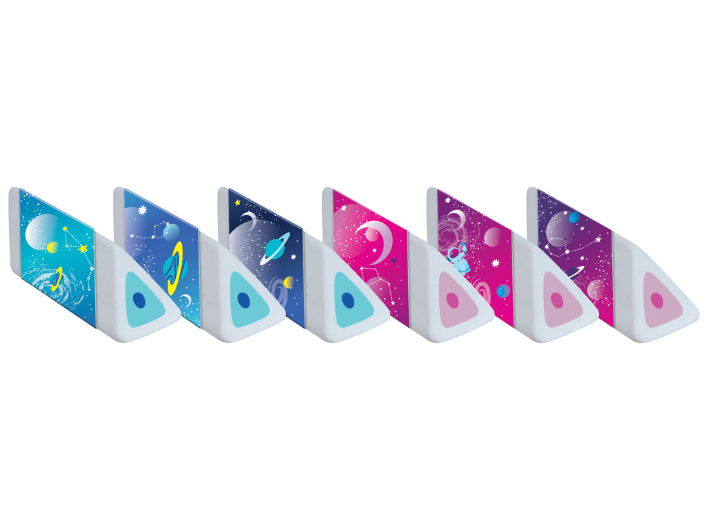 Eraser Maped Cosmic Kids Pyramid assorted