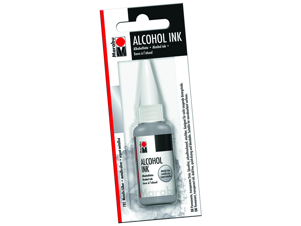 Alkoholitint Marabu 20ml 782 metallic-silver blistril