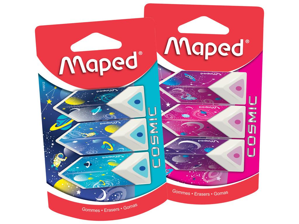 Eraser Maped Cosmic Kids Pyramide 3pcs blister