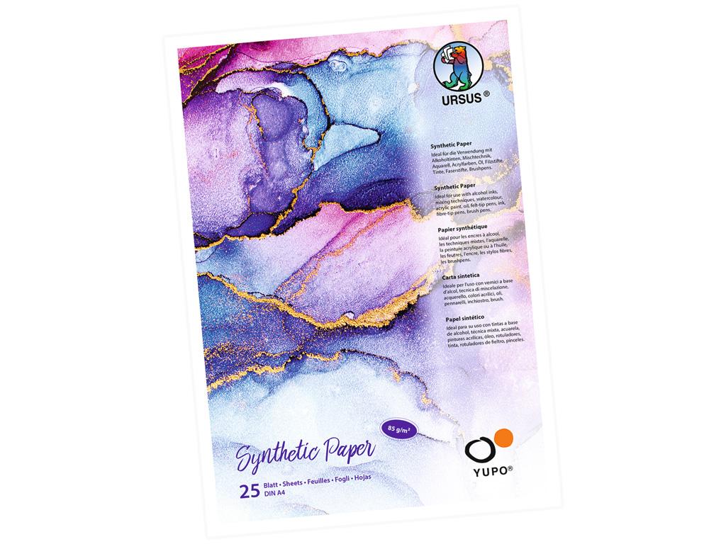Sintētiskā papīra bloks Ursus Yupo A4/85g 25 lapas