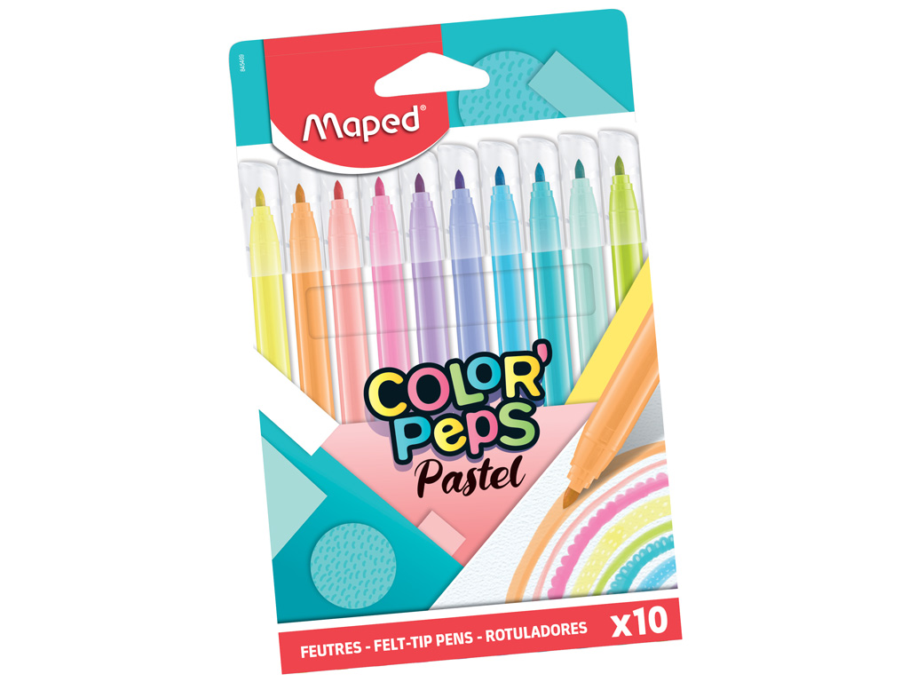 Viltpliiats ColorPeps Pastel 10tk