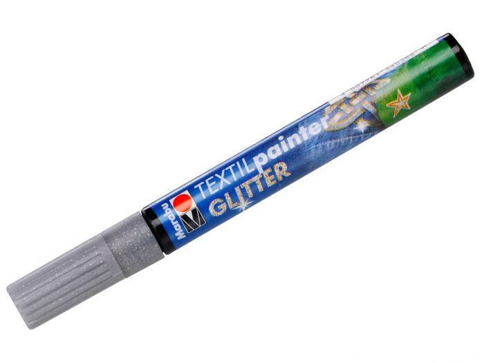 Tekstiilimarker Marabu Glitter 3mm