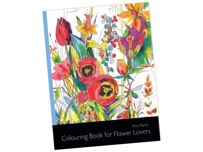 """Colouring book """"Colouring Book for Flower Lovers"""" - 1/2"""