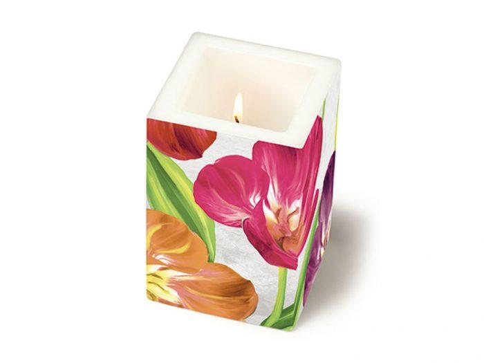 Candle Paper+Design square 8x8x12cm