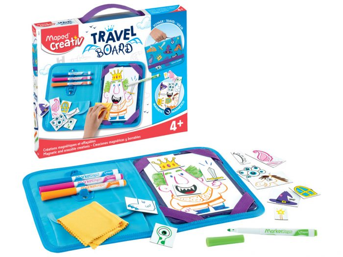 Magnetic and erasable creations kit Maped Creativ Travel Board Knights and Princesses - 1/6