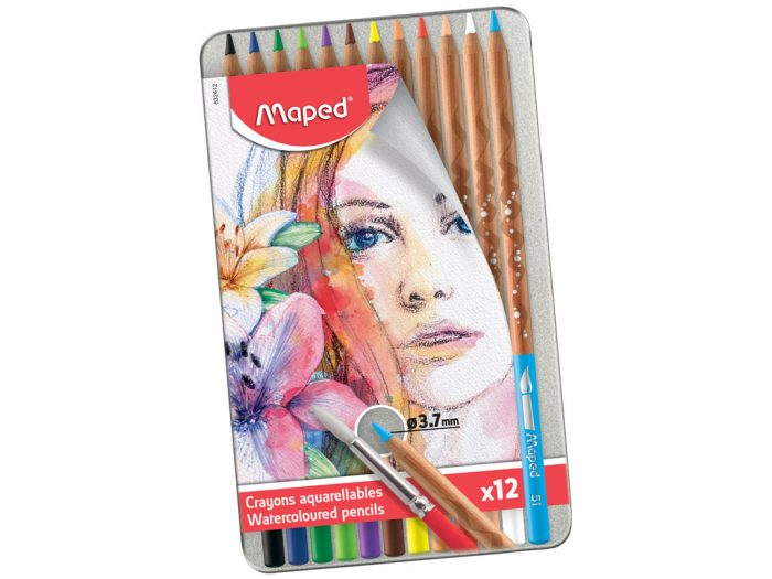 Watercolour pencils Maped Artist in metal box - 1/2