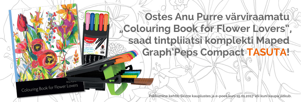 Colouring Book for Flower Lovers+Graph'Peps Compact