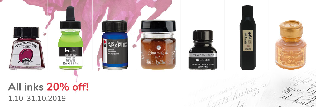 All inks 20% off!